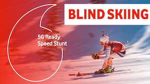 Vodafone Speed Stunt 5G Blind Skiing
