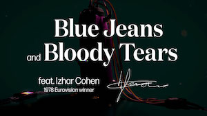 "a Eurovision song created by AI: ""Blue Jeans and Bloody Tears"""